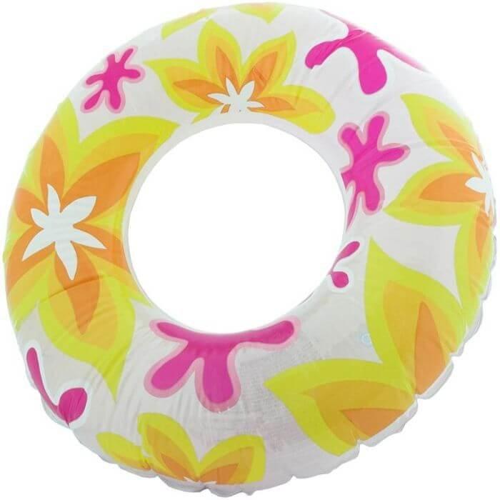 Bílý dětský nafukovací kruh Aqua-Speed