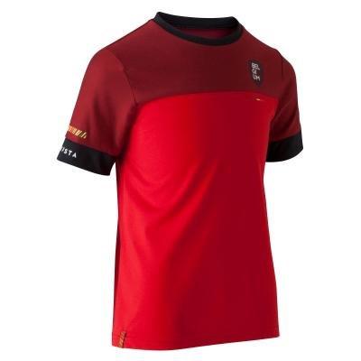 """Červený dětský fotbalový dres """"Belgická reprezentace"""", Kipsta"""