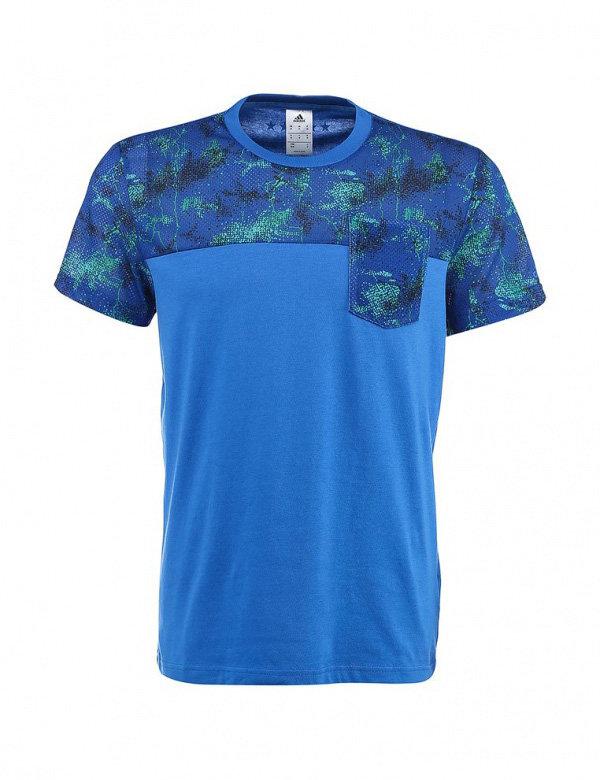 Modré pánské tričko s krátkým rukávem Adidas - velikost S