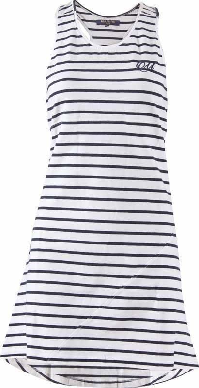 Bílo-modré dámské šaty MARINE