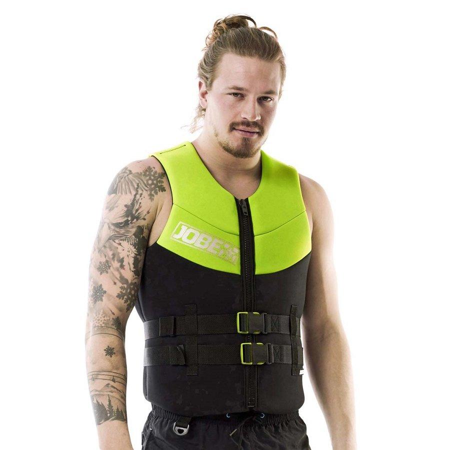 Černo-zelená pánská plavecká vesta Jobe - velikost S